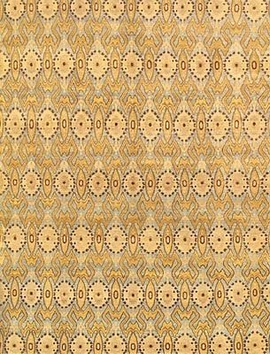 Pasargad Ikat Hand-Knotted Light Blue Area Rug; Rectangle 6' x 9'