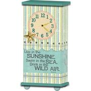 Imagine Design Treasured Times Flowers Sunshine Sea General Clock