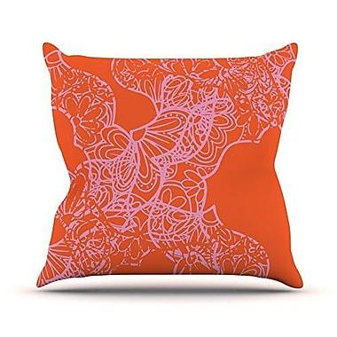 KESS InHouse Mandala Pumpkin by Patternmuse Throw Pillow; 20'' H x 20'' W