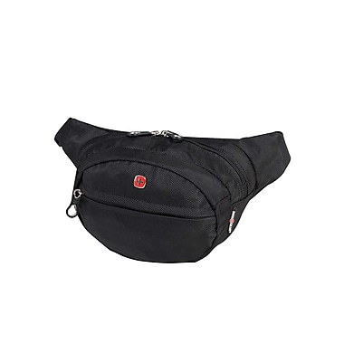 Swiss Gear (SWT0374R) Waist Bag with RFID Pocket, Black