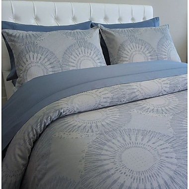 The St. Pierre Home Fashion Collection European Chester Medallion 3 Piece Reversible Duvet Cover Set