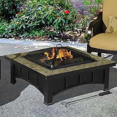 Sunjoy Scenic Steel Slate Fire Pit Table