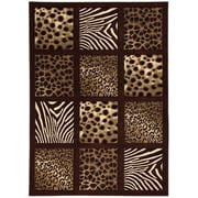 Brady Home Chocolate Area Rug; 8' x 11'