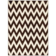 Brady Home Chocolate/Cream Area Rug; 8' x 11'