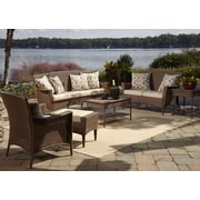 Panama Jack Key Biscayne 5 Piece Seating Group w/ Cushions; Canvas Canvas
