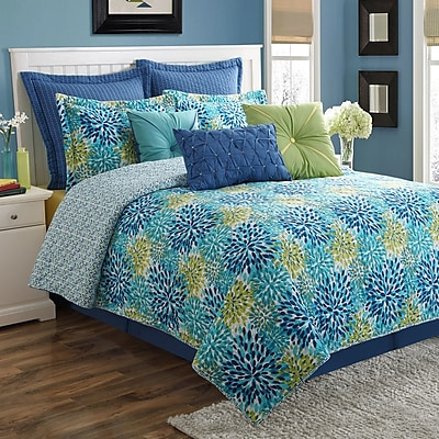 Fiesta Calypso Reversible Quilt Set; King
