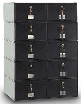 PostalProductsUnlimitedInc. Guardian 10 Door Rear Load Rack Ladder System Mail Center