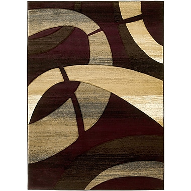 Brady Home Burgundy Area Rug; 5' x 7'