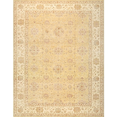 Pasargad Sultanabad Hand-Knotted Gold Area Rug