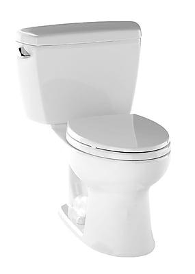 Toto Drake 1.6 GPF Elongated Two-Piece Toilet; Cotton White