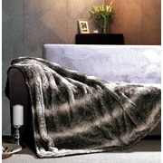 The St. Pierre Home Fashion Collection Gray Wolf Faux Fur Throw