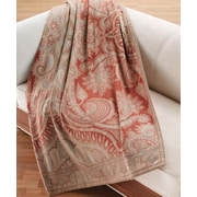 The St. Pierre Home Fashion Collection Marzotto Mandala Paisley Cashmere Throw