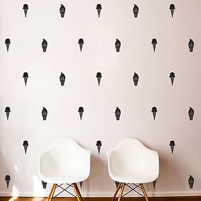 Dana Decals Ice Cream Cone Pattern Wall Decal Set (Set of 25) WYF078278779058