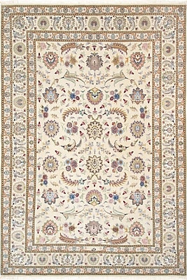 Pasargad Tabriz Hand-Knotted Ivory Area Rug
