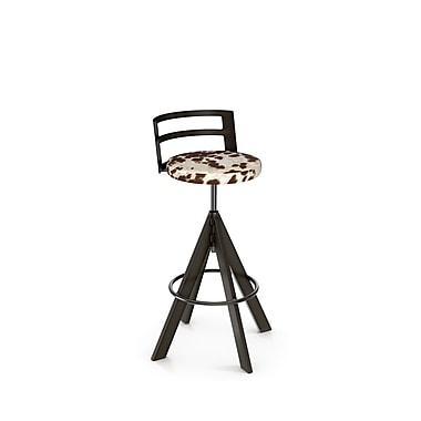 Amisco (41625-WE/1B51GMF4) Swirl Screw Metal Stool, Gun Metal Finish