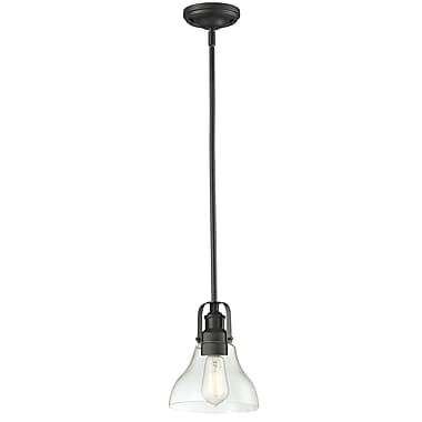 Z-Lite 322-8MP-3BRZ Forge Island/Billiard, 3 Bulb, Clear Glass