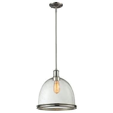 Z-Lite 718P13-3BN Mason Island/Billiard, 3 Bulb, Clear Seedy Glass