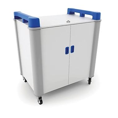 LapCabby 10V Laptop Charging Cart, 20V USA, Blue
