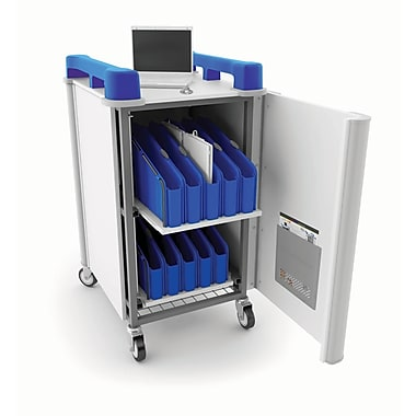 LapCabby Mini 20V Chromebook/Netbook/Tablet Charging Cart, 20V Mini USA, Blue