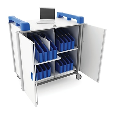 LapCabby Mini 32V Chromebook/Tablet Charging Cart, 32V USA, Blue