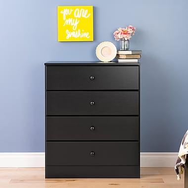 Prepac Astrid 4-Drawer Dresser, Black