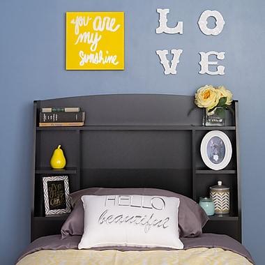 Prepac – Tête de lit simple Astrid, noir