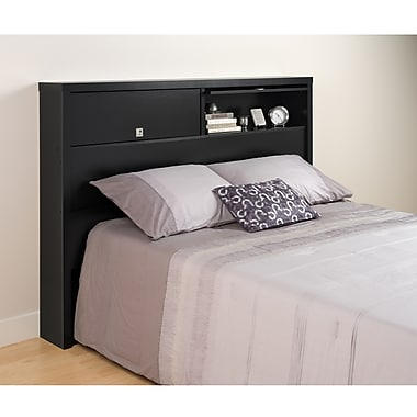 PrepacMC – Tête de lit à 2 portes pour grand lit ou lit deux places, Series 9 Designer, 66,5 po, noir