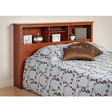 PrepacMC – Tête de lit à bibliothèque pour lit deux places ou grand lit de 65,75 po, fini cerisier
