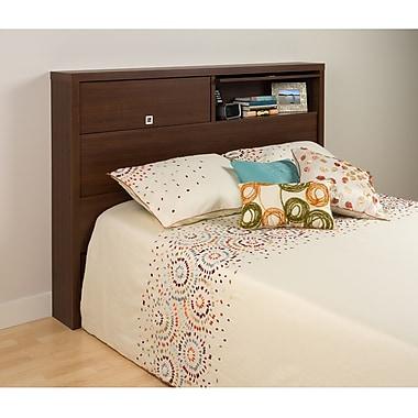 PrepacMC – Tête de lit à 2 portes pour grand lit ou lit deux places, Series 9 Designer, 66,5 po, noyer brun
