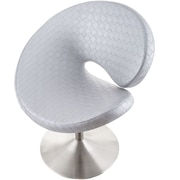 Matrix C Shape Swivel Papasan Chair; Silver