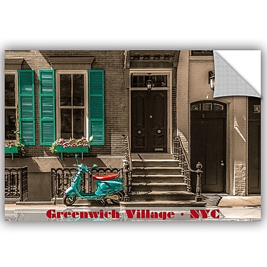 ArtWall Richard James Greenwich Village Life Wall Mural; 16'' H x 24'' W