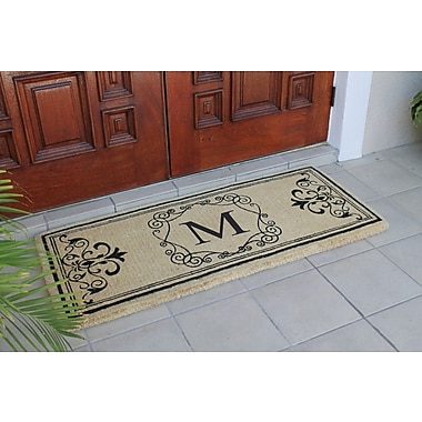 A1 Home Collections LLC First Impression Hayley Monogrammed Entry Double Doormat; M