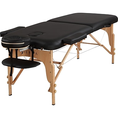 SierraComfort Relief Portable Massage Table; Black