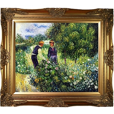 La Pastiche Picking Flowers, 1875 by Pierre-Auguste Renoir Framed Painting Print