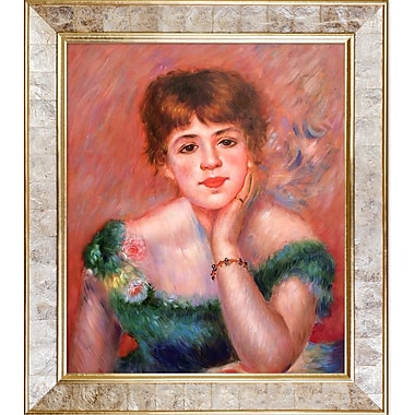 La Pastiche Jeanne Samary, La Reverie, 1877 by Pierre-Auguste Renoir Framed Painting Print