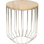 Knox & Harrison End Table; Nickel