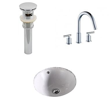 American Imaginations Circular Undermount Bathroom Sink w/ Overflow