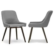 Glamour Home Decor Ade Side Chair (Set of 2); Gray