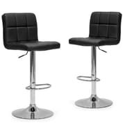 Glamour Home Decor Adjustable Height Swivel Bar Stool (Set of 2)