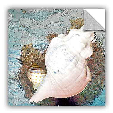 ArtWall Melinda Bradshaw Shell and Chart III Wall Mural; 36'' H x 36'' W