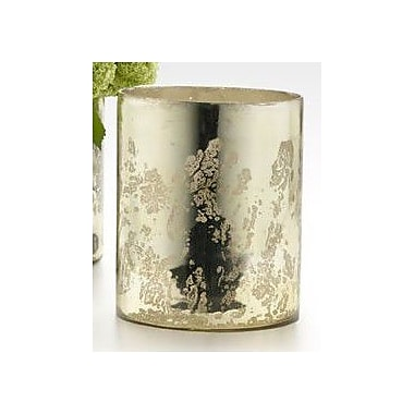 Serene Spaces Living Cylinder Vase; Antique Light Gold