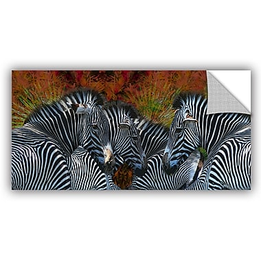 ArtWall Melinda Bradshaw Zebras Wall Mural; 12'' H x 24'' W