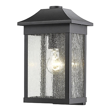 Artcraft Lighting Morgan 1-Light Outdoor Flush Mount; Black
