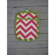 Caught Ya Lookin' Chevron Potholder; Pink and Green