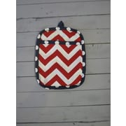 Caught Ya Lookin' Chevron Potholder; Red and Navy
