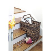 Creative Co-Op Turn of the Century BacBac Leaf Woven Stair Basket