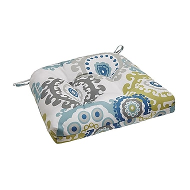 Madison Park Laguna Outdoor Cushion; Blue