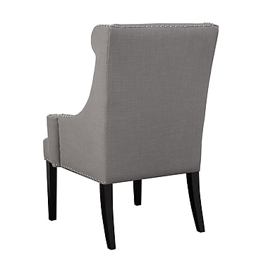 Madison Park Marcel Wingback Chair; Gray