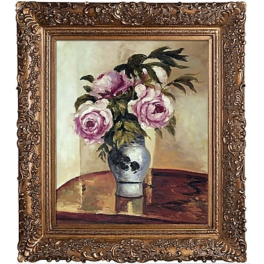 Tori Home Pissarro Bouquet of Peonies Framed Painting