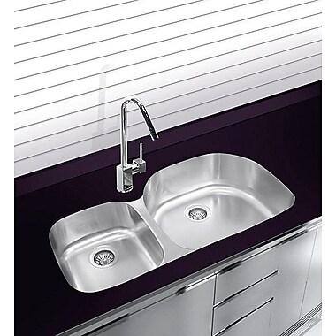 Ukinox 38'' x 17.75'' Undermount Double Bowl Stainless Steel Kitchen Sink
